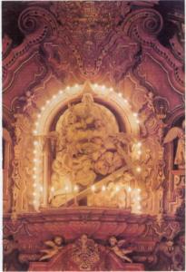 Parte superior del retablo
