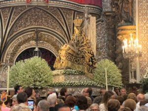 La Virgen de las Angustias en su Trono Procesional @ Basílica de la Virgen de las Angustias