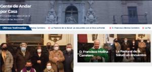 """Inauguración de la nueva sección """"Gente de Andar por Casa"""" @ Web de la Hermandad Sacramental de la Virgen de las angustias"""